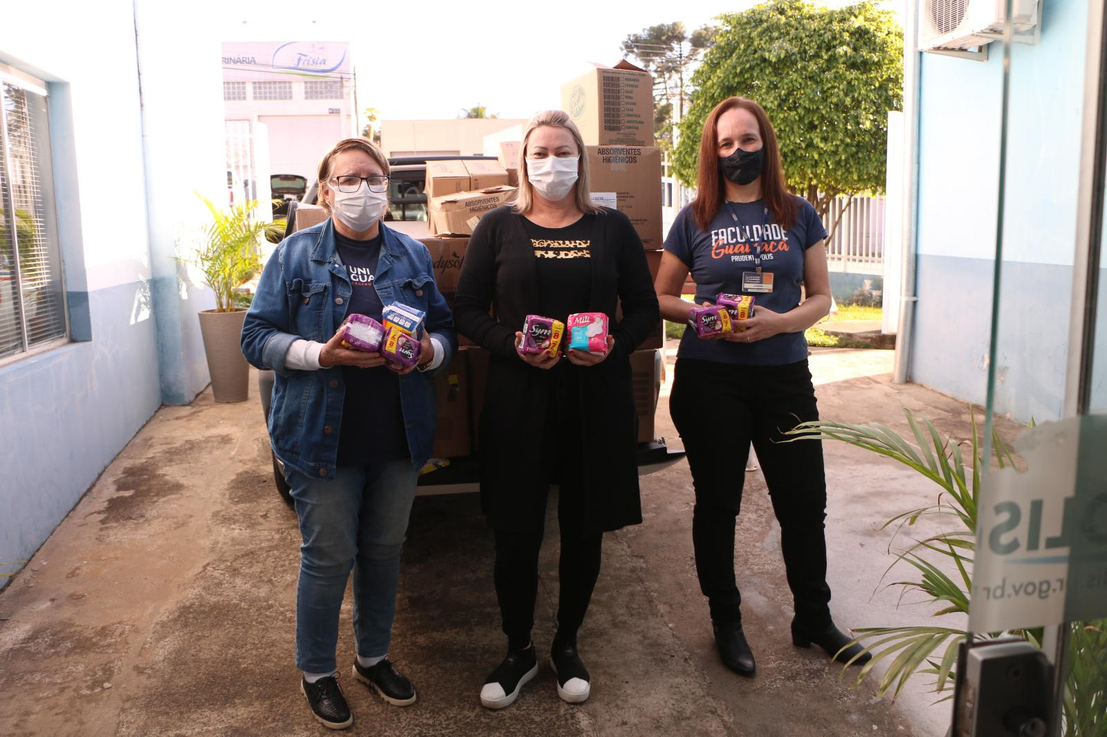Dignidade feminina: FGP arrecada mais de mil pacotes de absorventes para campanha social